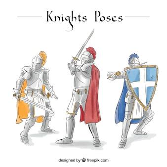 Knights in watercolor armor