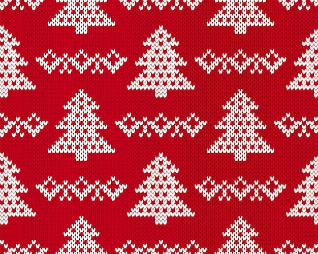 Knit christmas pattern.