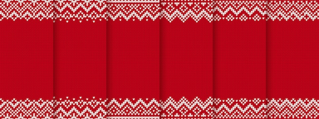 Knit christmas seamless pattern.
