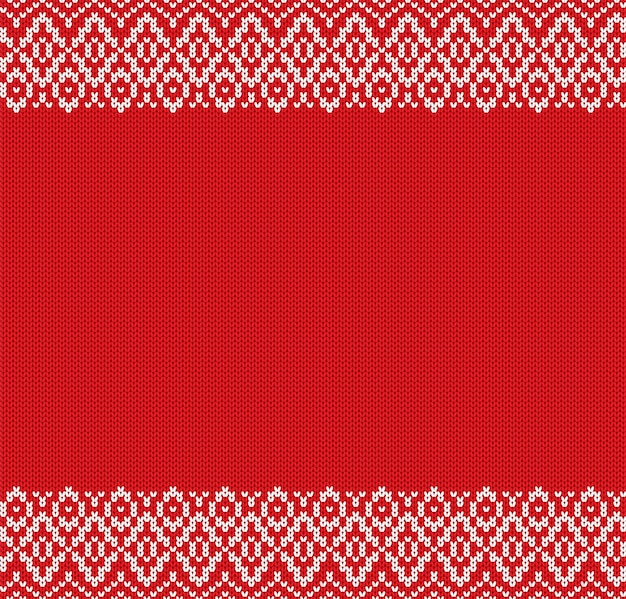 Knit geometric ornament design christmas seamless pattern.