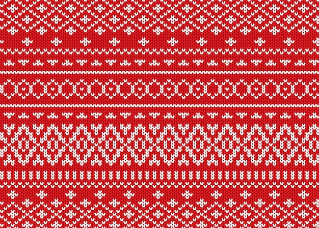 Knit geometric ornament design. christmas seamless pattern.
