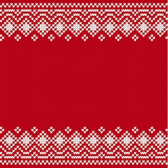 Knit geometric ornament. scandinavian knitted pattern for printing at fabric. knitted style background with place for text