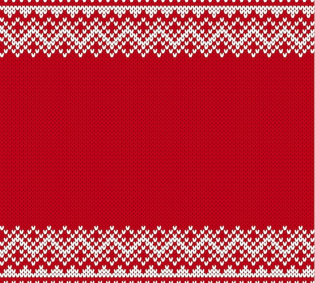 Knit geometric seamless pattern with empty place for text.