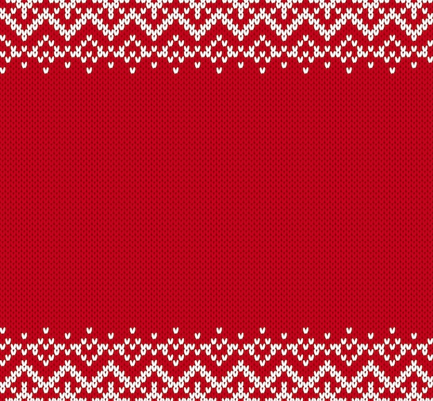 Knit ornament background with empty place for text.
