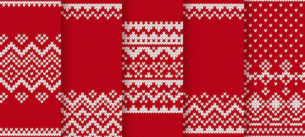 Knit seamless christmas pattern.   illustration. red texture.