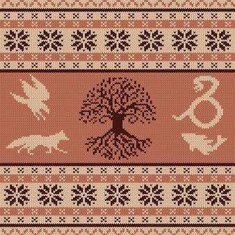 Knit seamless ornament