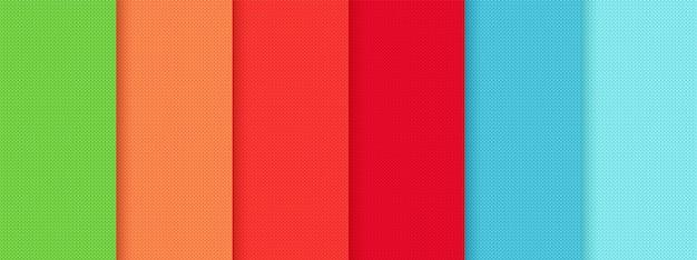 Вяжем бесшовные модели. красочные вязаные текстуры. векторная иллюстрация.