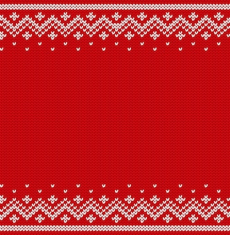 Knit seamless pattern. knitted christmas texture.  illustration.