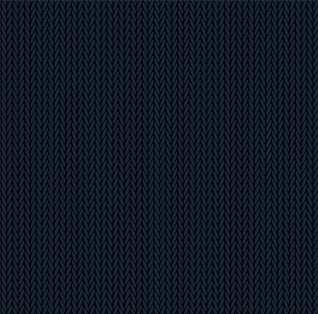 Knit texture dark blue color. seamless pattern fabric. knitting background flat design.