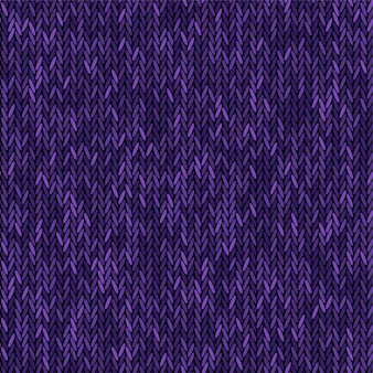 Knit texture melange purple color. vector seamless pattern fabric. knitting background flat design.