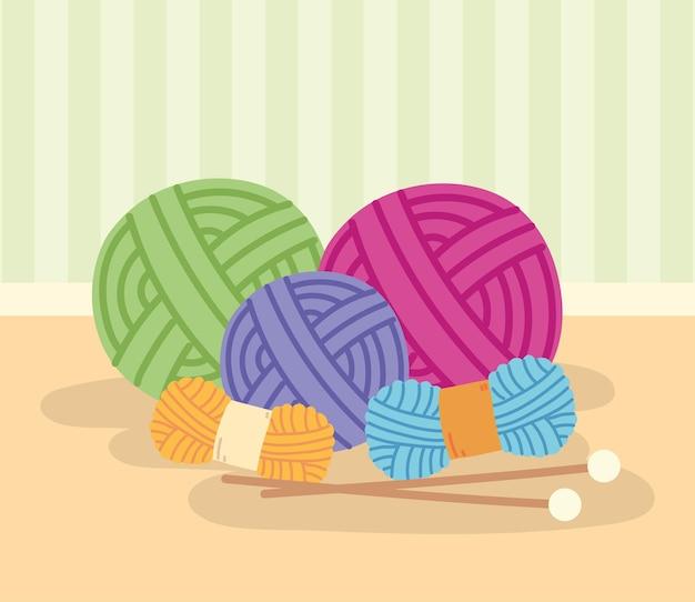 Knit yarn wools
