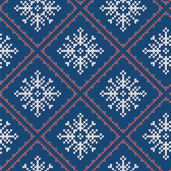 Knited christmas pattern. red seamless print.   illustration.
