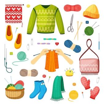 Knits and knitting set
