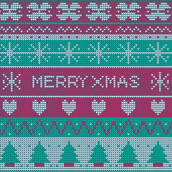 니트 크리스마스 패턴 배경