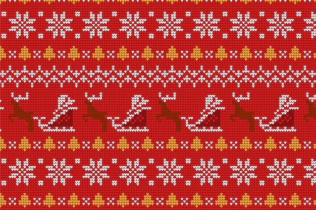Knitted christmas pattern collection