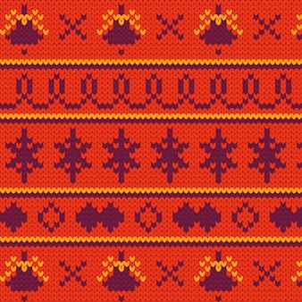 Knitted christmas pattern concept