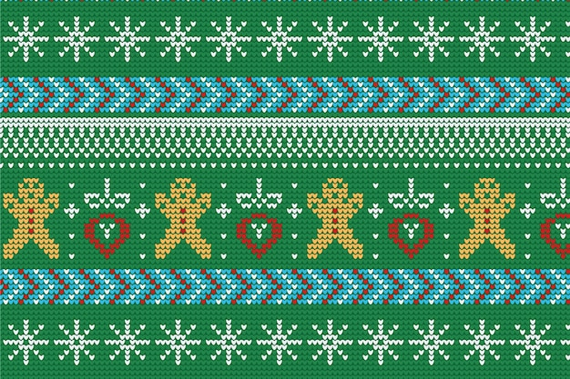 Knitted christmas pattern decoration