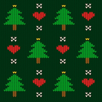 Knitted christmas pattern template