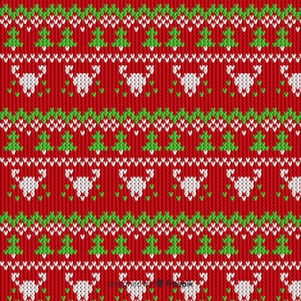 Knitted christmas pattern vintage style