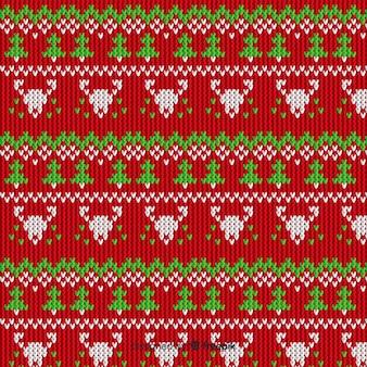 Вязаный рождественский узор в винтажном стиле