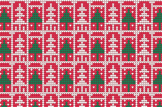 Knitted christmas pattern
