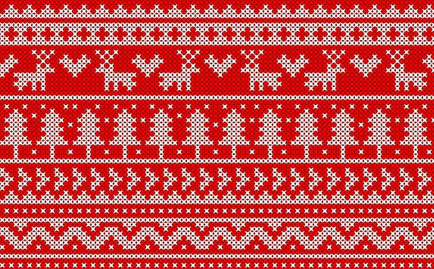 Knitted christmas pattern.