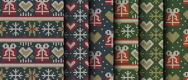 니트 크리스마스 선물 완벽 한 패턴