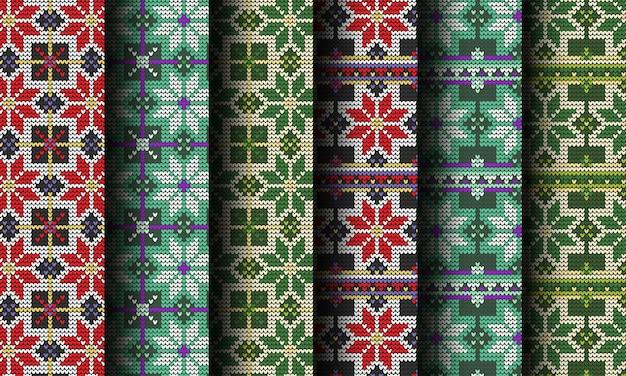 Knitted decorative christmas seamless pattern