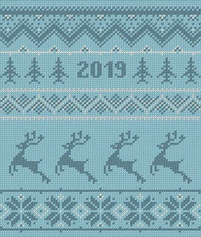 Knitted elements and borders for christmas winter design