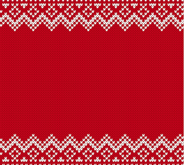 Knitted geometric ornament background with empty place for text.