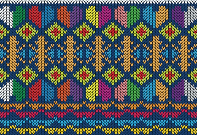 Knitted pattern texture design