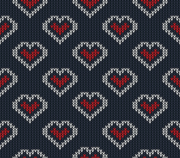 Knitted pattern vector seamless