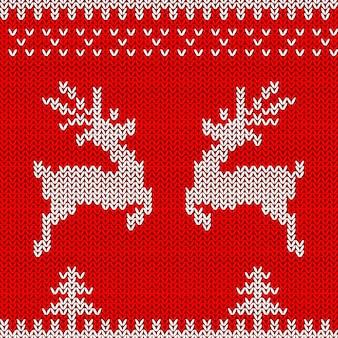 Вязаный свитер дизайн с оленями рождественский бесшовный орнамент для вязанной одежды карты
