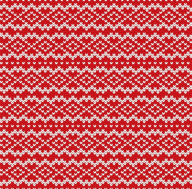 Knitted sweater geometric ornament design. seamless pattern.