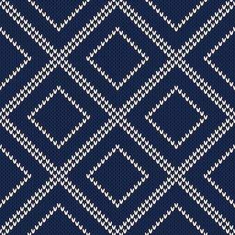 Knitted sweater pattern. seamless background. wool knit texture imitation