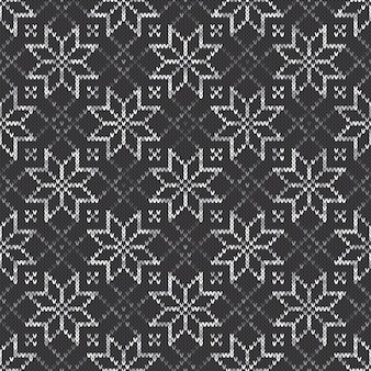 Knitted sweater pattern. seamless vector background with shades of gray colors. knitting wool texture imitation.