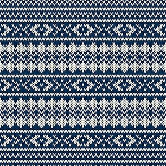 ウールニットテクスチャの模倣とニットセーターパターン