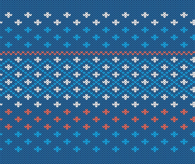 Knitted texture. christmas seamless pattern.