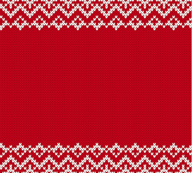Knitted textured pattern for a sweater with empty place for text. knitted geometric ornament background.
