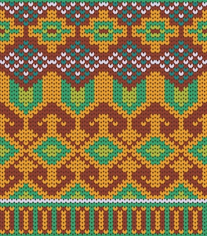 Knitted tribal pattern texture design