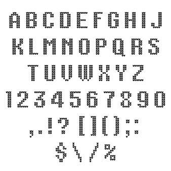 A knitted vector alphabet