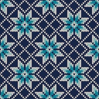 Вязаный винтажный дизайн свитера. fair isle бесшовные шаблон