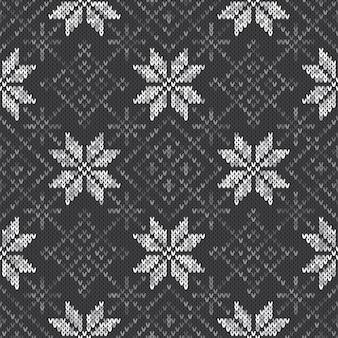ニットウールセーターパターンの模倣