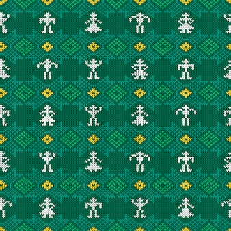 Knitted woolen pattern with national norwegian ornament
