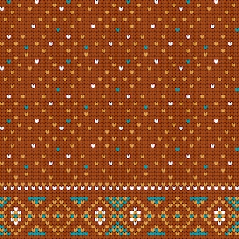 Knitting brown pattern for ugly sweater