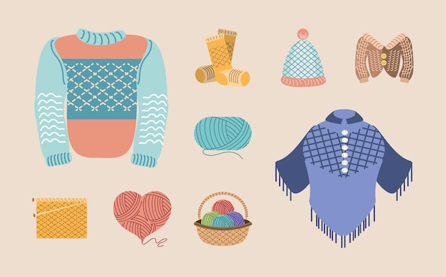 Knitting clothing and accessories