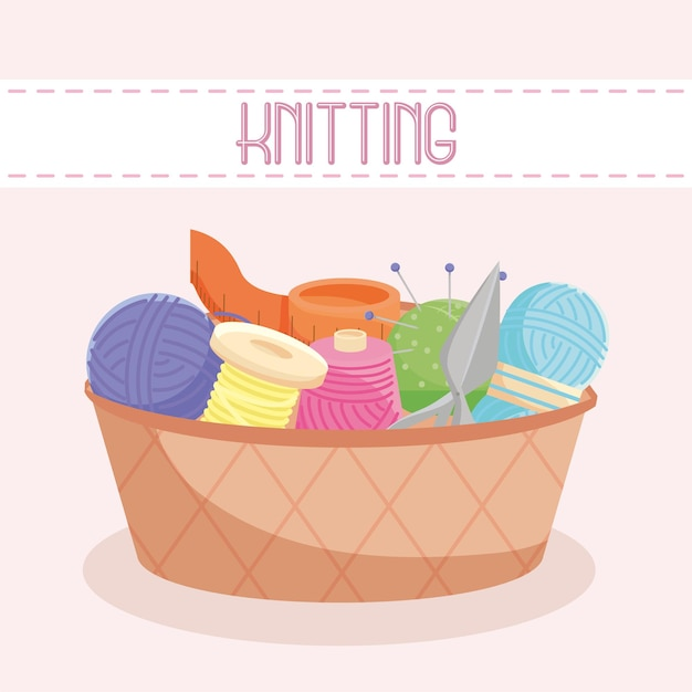 Knitting needles card