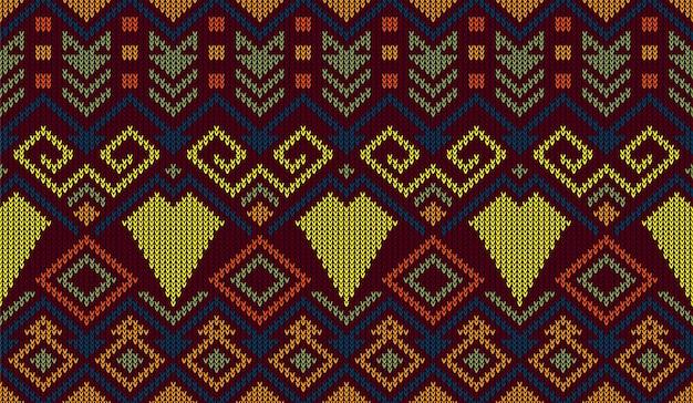 Knitting pattern fabric neck line design seamless