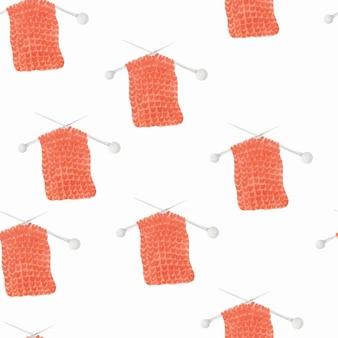 Knitting watercolor pattern background
