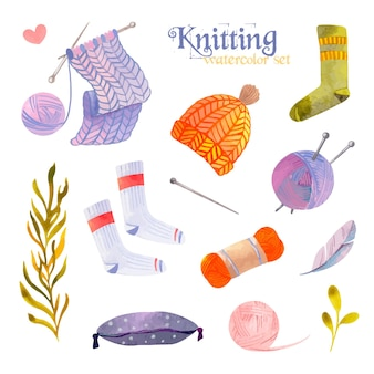 Knitting watercolor set